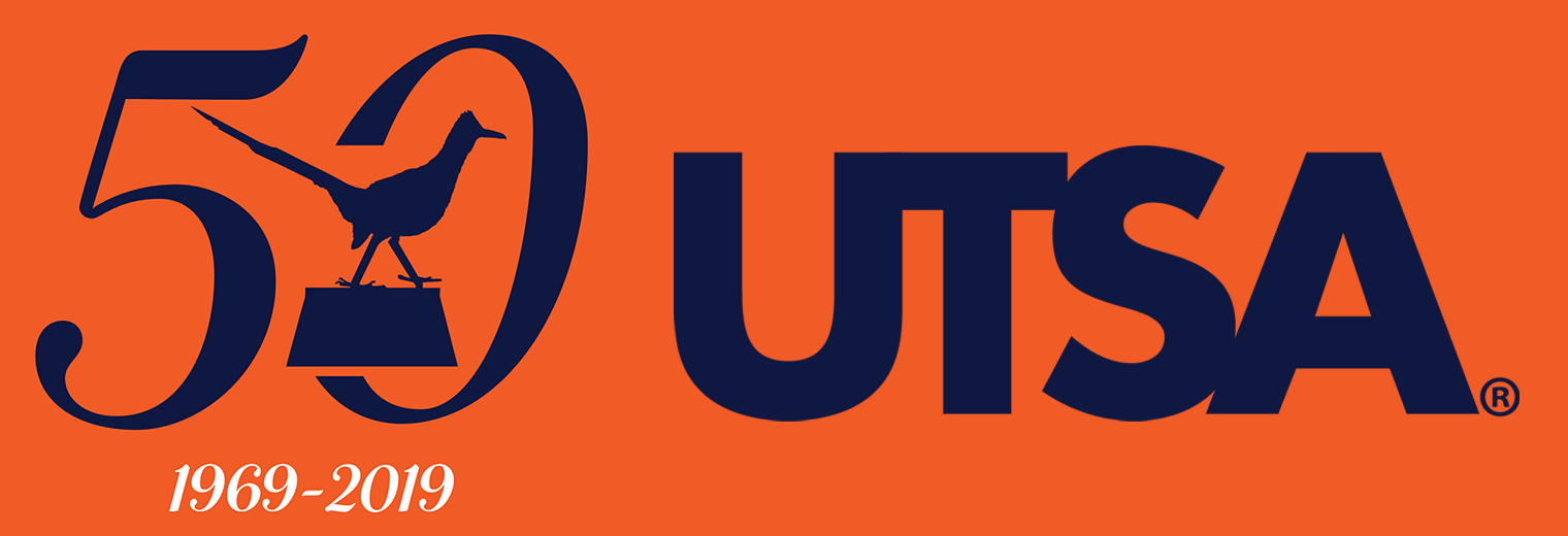 UTSA 50th Anniversary Mobile Logo